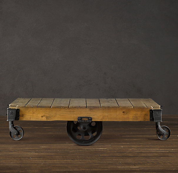 The Factory Cart Table From Restoration Hardware. Oh How I Love Thee. I  Have Been Drooling Over This Dang Coffee Table Ever Since It Came Out. Butu2026