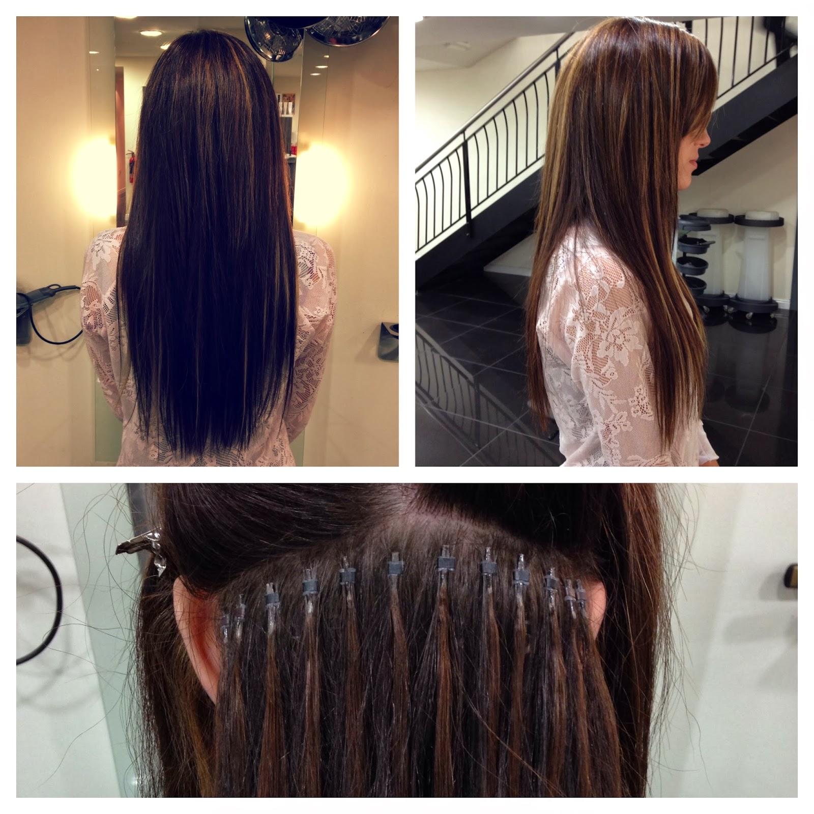 """Beautiful multitonal 20"""" Micro ring Hair extensions."""