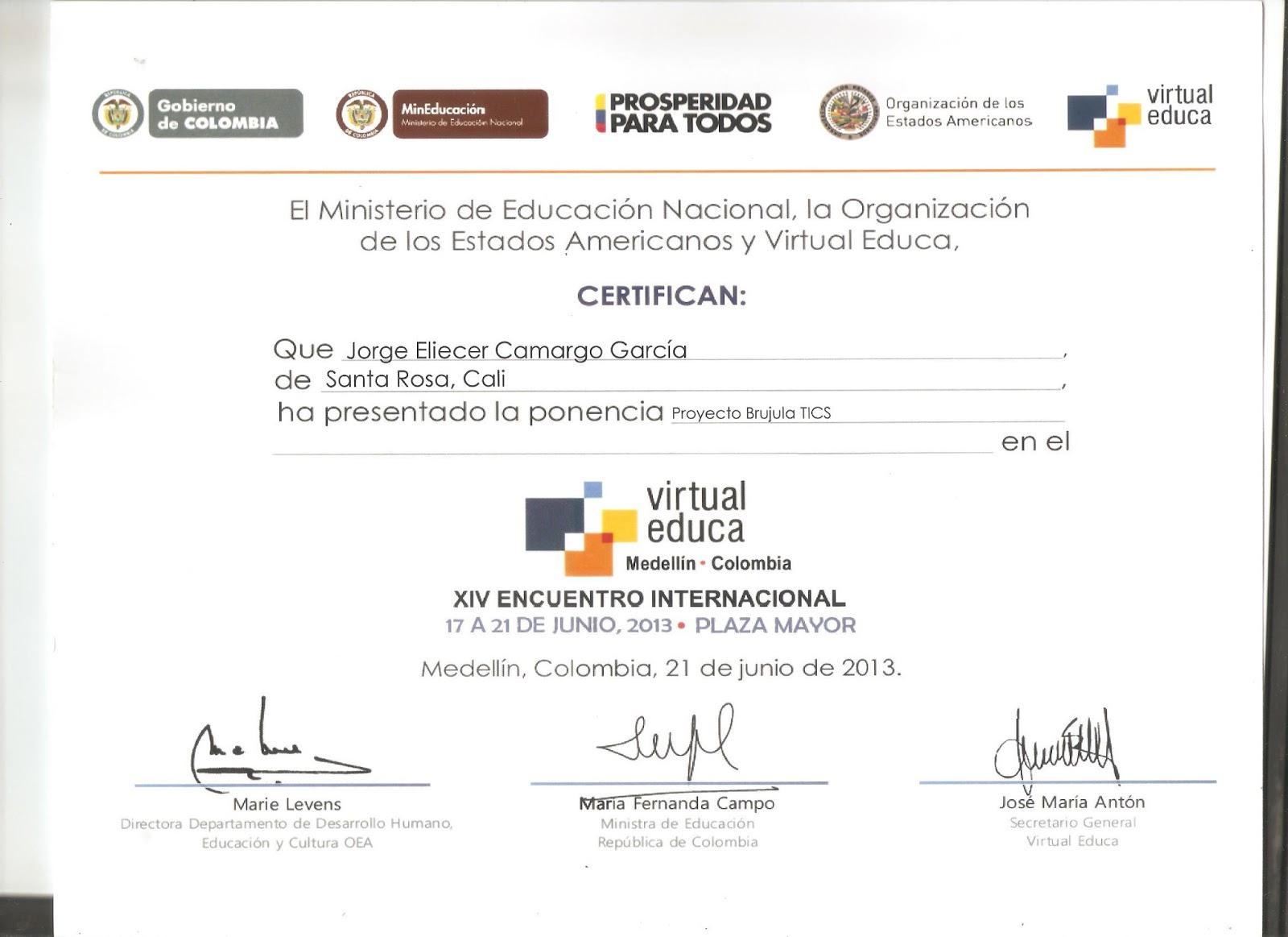 Certificado educa