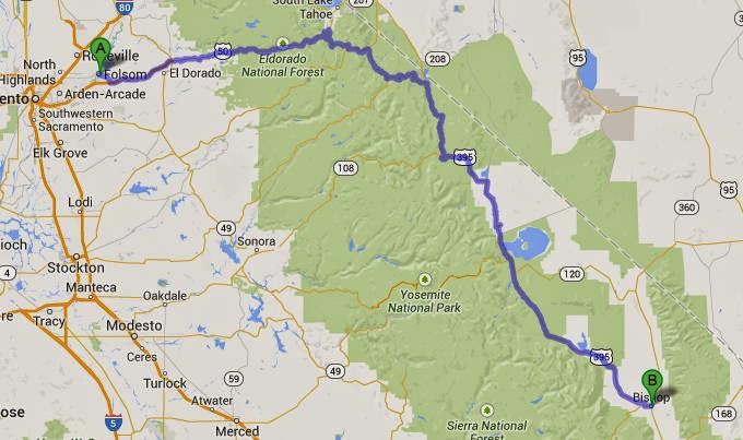 UPDATED Where We Took The Lexus GX - Us 395 map