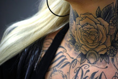 neck+tattoo+on+blonde