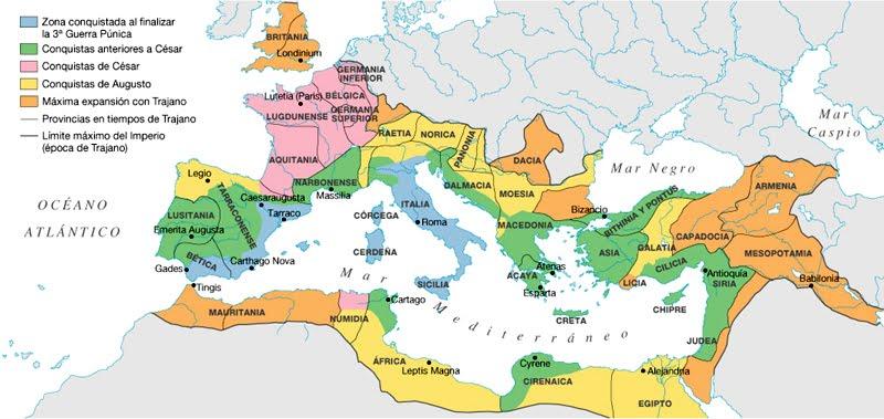 cuaderno de historia y geografa MAPAS INTERACTIVOS DEL IMPERIO