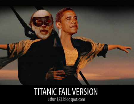 Titanic funny pictures obama