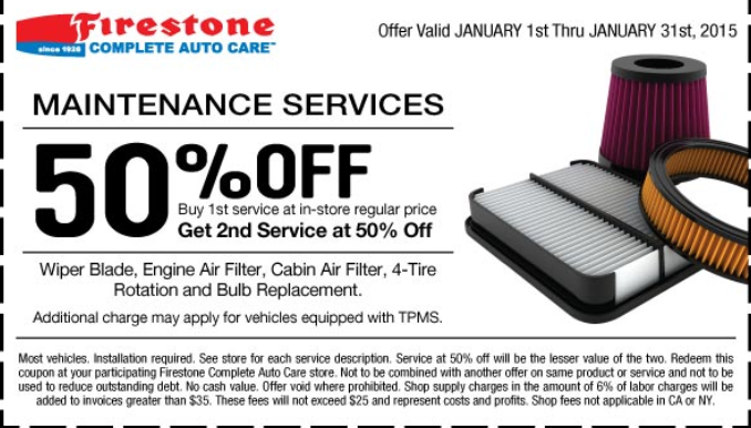 Firestone discount coupons