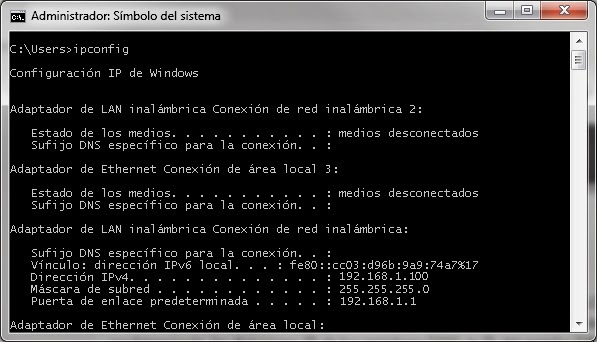 ipconfig windows 7