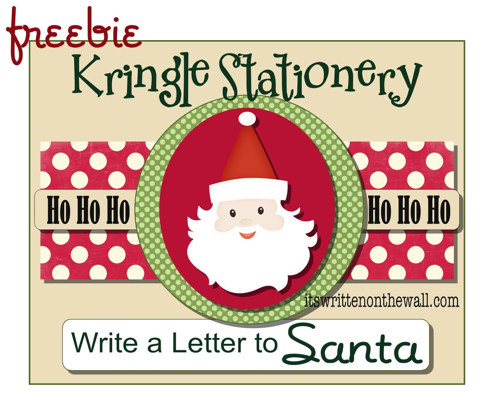 Freebie Kringle StationaryWrite Your Christmas Letter To Santa