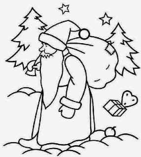 Santa Claus for Coloring, part 3