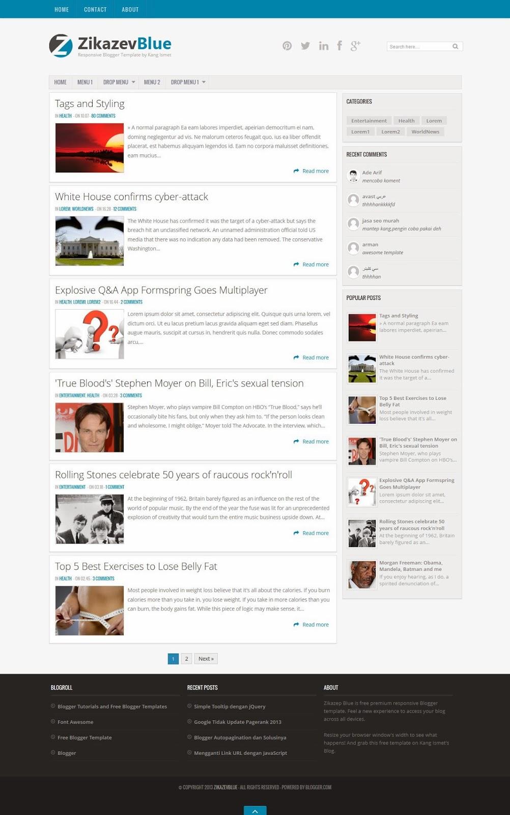 Top best Responsive Blogger templates Blogspot xml templates ...