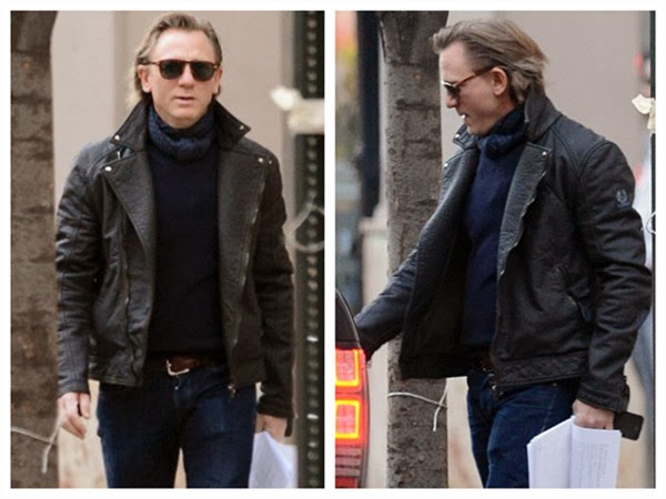 Daniel Craig Puts on Vintage Glasses