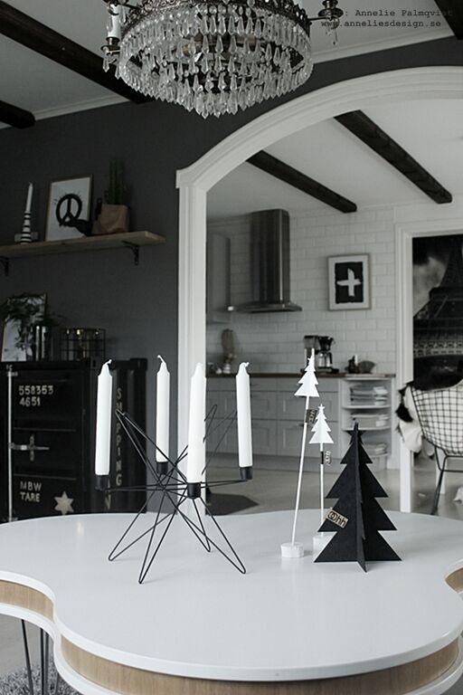 gran, Oohh, granar, ljusstake advent, ljusstakar, svart och vitt, svartvit, svartvita, vitt, svart, julpynt 2015, julen, jul, juldekorationer, webbutik, webbutiker, webshop, inredning, stjärna, stjärnor, nettbutikk, nettbutikker, vardagsrum, soffbord