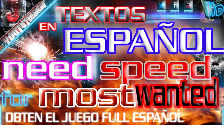 COMO PONER EL TEXTO DEL NEED FOR SPEED MOST WANTED EN ESPAÑOL   2015