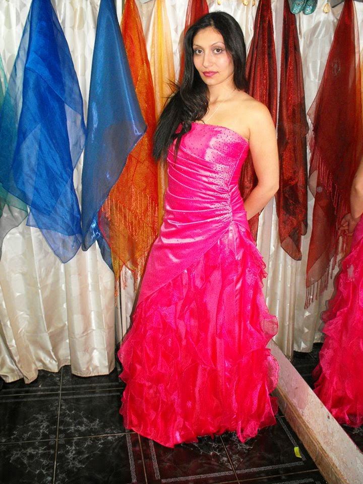 Vestido RASSO STRAPLESS ROSAFUXIA CAPAS