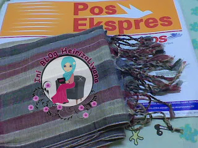 rezeki julai, hadiah dari blogger, pashima,cara pakai pashima,corak pashima,harga pashima