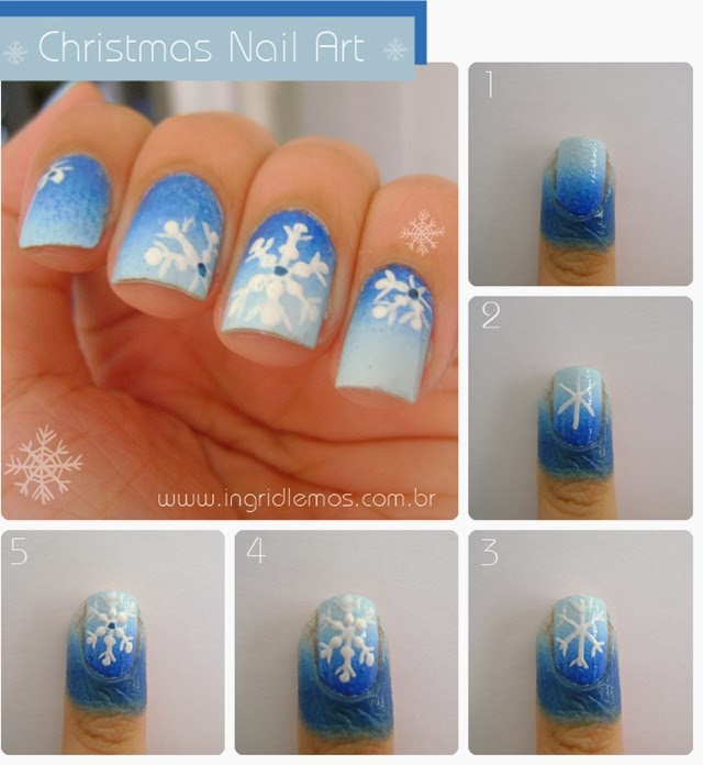 Christmas Nail Art Tutorial Gingerbread Galore: Esmalte: Christmas Nail Art Tutorial
