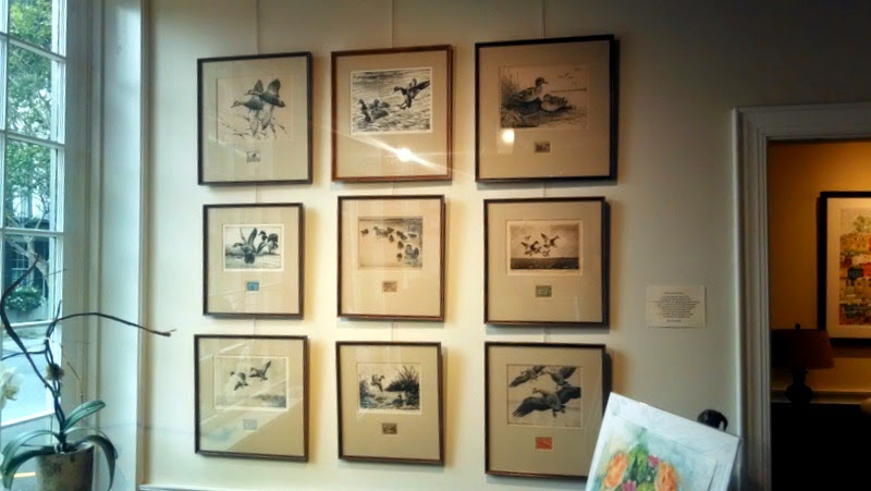 Original duck stamp art collection for sale in Charleston gallery