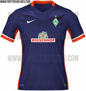 jual online dan gambar photo Jersey Werder Bremen away terbaru musim 2015/2016
