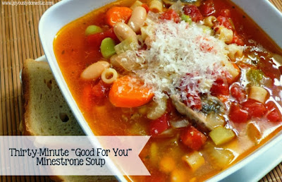 "Thirty-Minute ""Good For You"" Minestrone Soup"