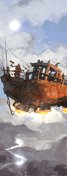 Illustration with Ian McQue style by Álvaro Corcín