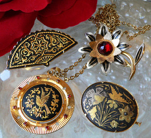 damascene jewellery