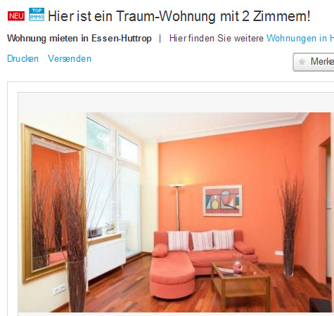 sch ne wohnung gegen wohnungsbetrug against rental scammers. Black Bedroom Furniture Sets. Home Design Ideas