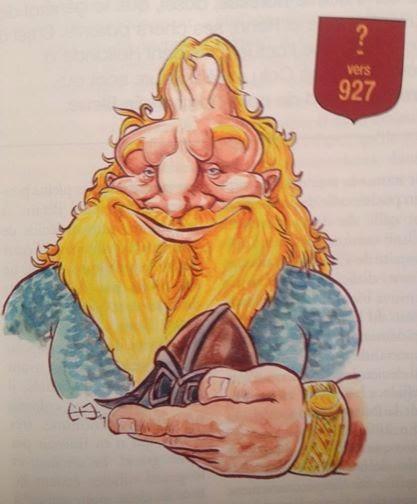 Caricature de Rollon pour Patrimoine Normand par Guillaume Néel