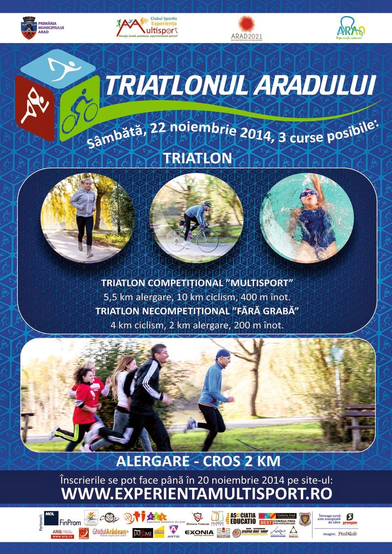 Triatlonul Aradului, 22 Noiembrie 2014. Aleargă, înoată, pedalează