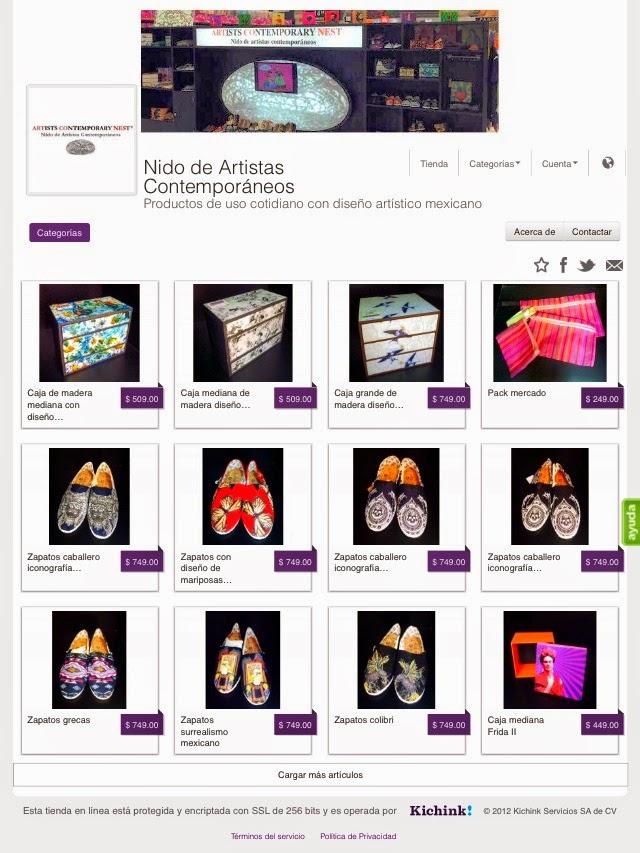 Tienda on line Nido de Artistas Contemporáneos
