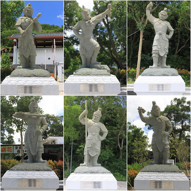 Statues of 12 Divine Generals can be seen at Bodhi Path of Ngong Ping Piazza in Ngong Ping Village of Lantau Island in Hong Kong