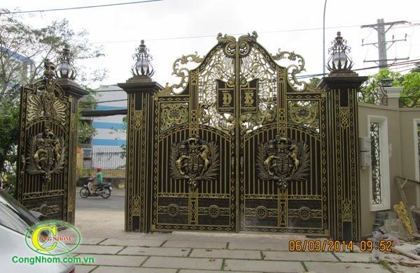 Cổng nhôm đúc, cổng đúc hợp kim nhôm