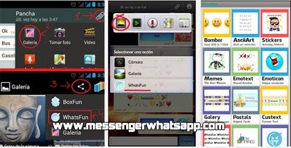 Envia WhatsFun WhatsApp smiley a todos tus amigos de WhatsApp