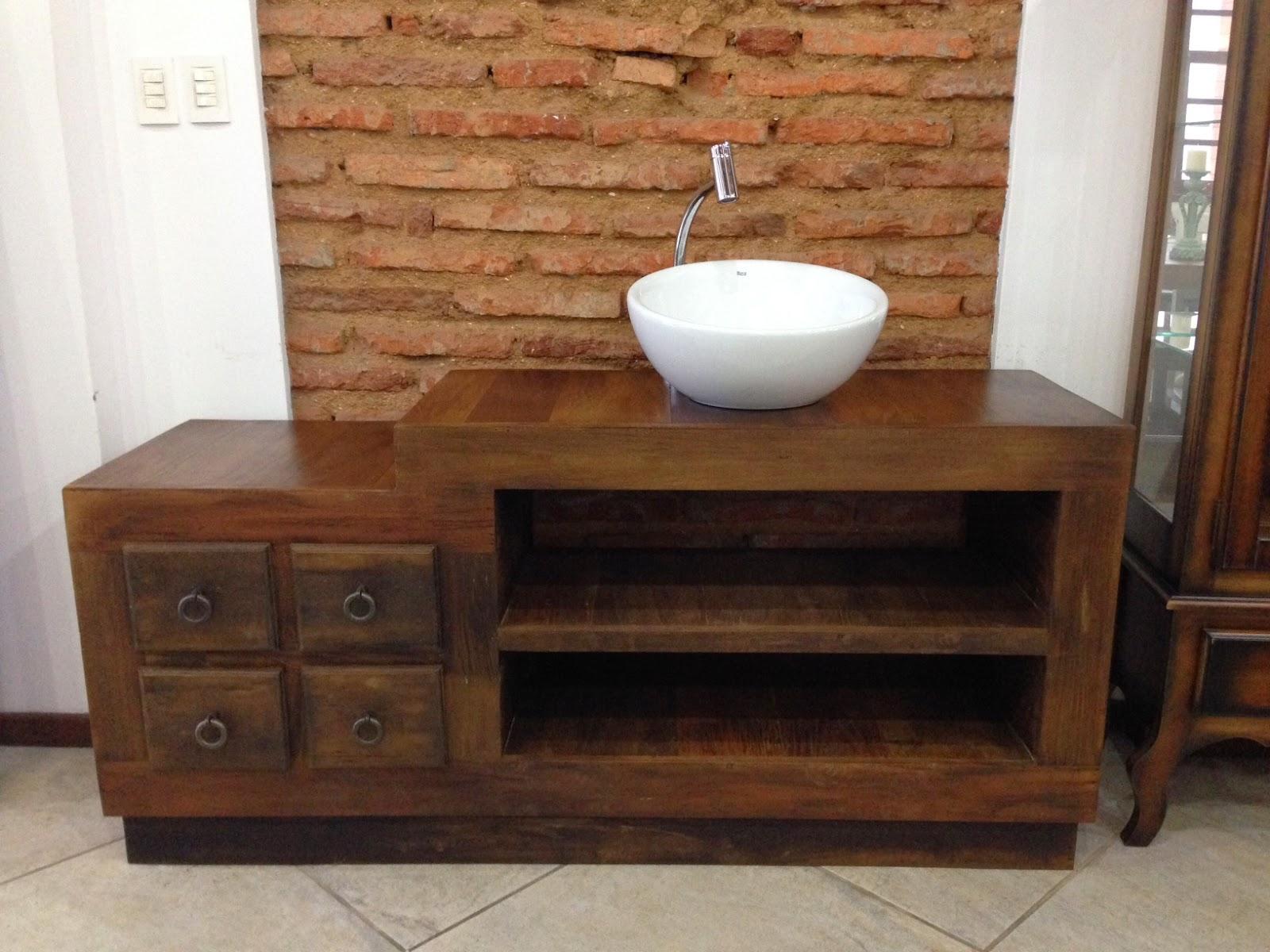 Casa Mix: Móvel para lavabo em madeira de demolição #673E24 1600x1200