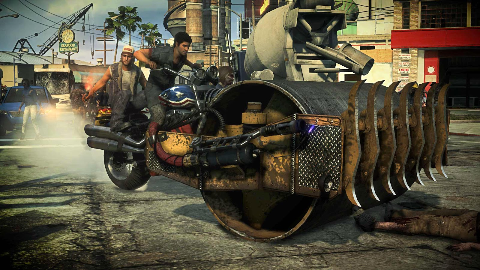 Vehiculo aplasta zombies casero multijugador