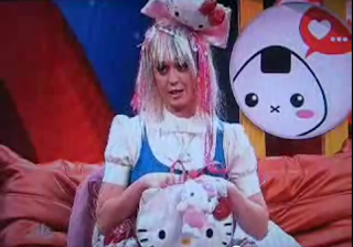 Katy Perry and Hello Kitty outfit on Saturday Night Live