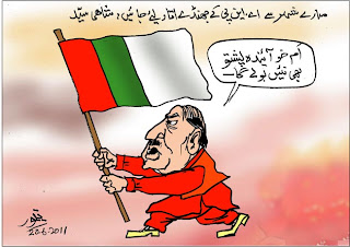 Cartoon on ANP Karachi