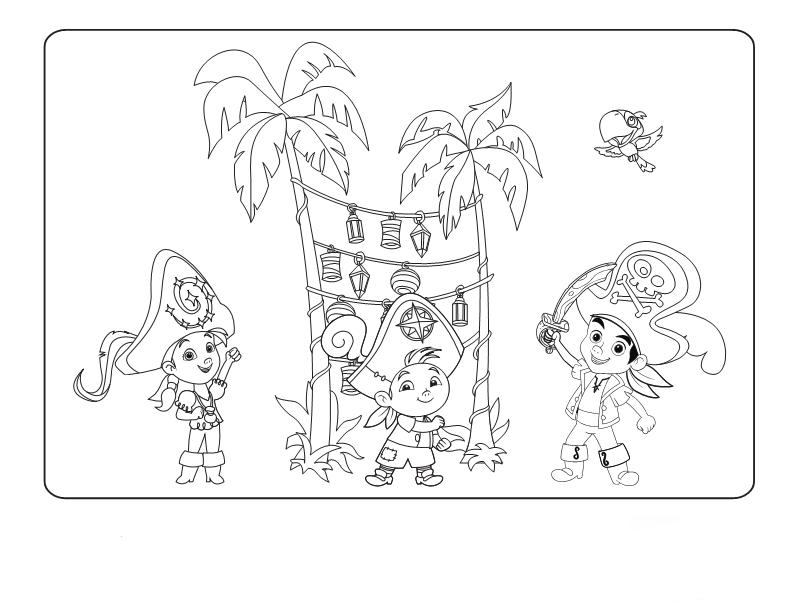 Dibujos Para Colorear De Jake Y Los Piratas  Colorear Jake Y Los