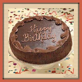 tarjetas de Cumpleaños torta de chocolate