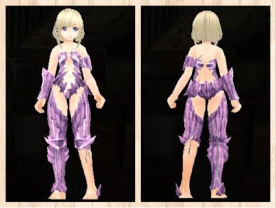 魔結晶の鎧 軽量化×ピンク1+白3