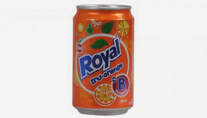 Royal (Tru Orange) soft drink