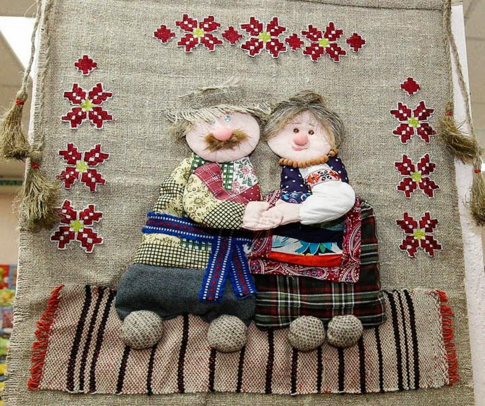 Кукла лоскутным шитьём