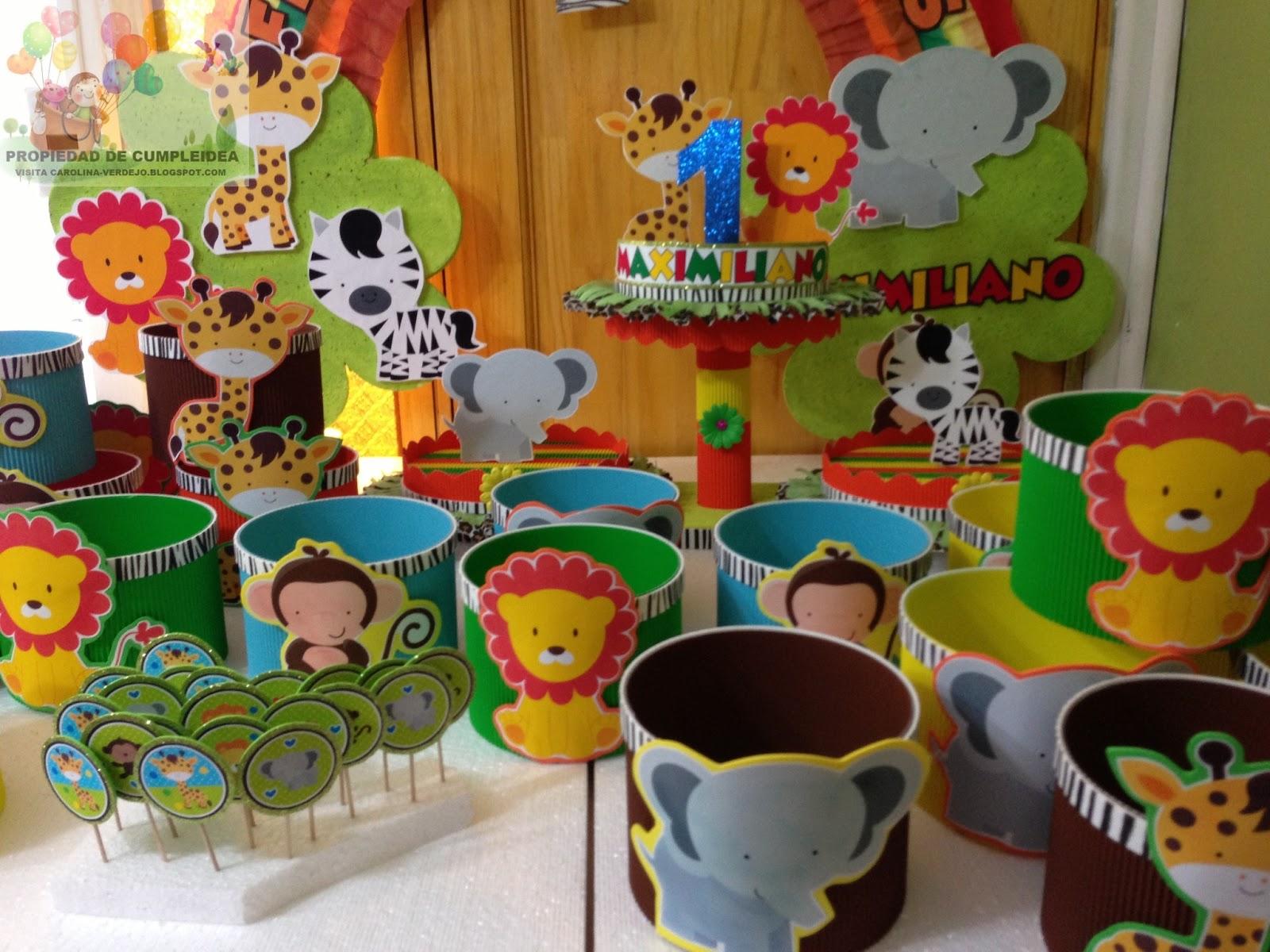 Decoraciones infantiles selva - Decoracion fiesta de cumpleanos infantil ...