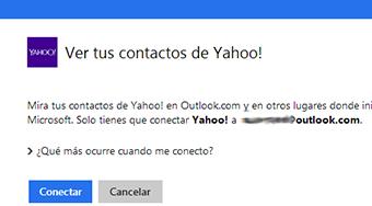 Importar contactos de Yahoo en Outlook
