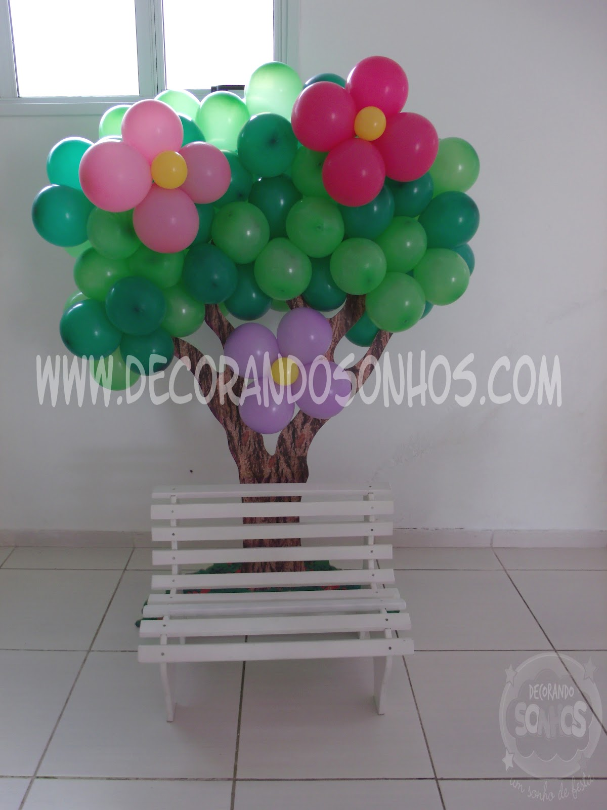 enfeites para festa infantil jardim encantado:decoracao+jardim+encantado+clean+festa+infantil+jardim+encantado