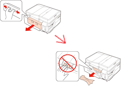 eliminate paper jam from the rear door of the printer Epson