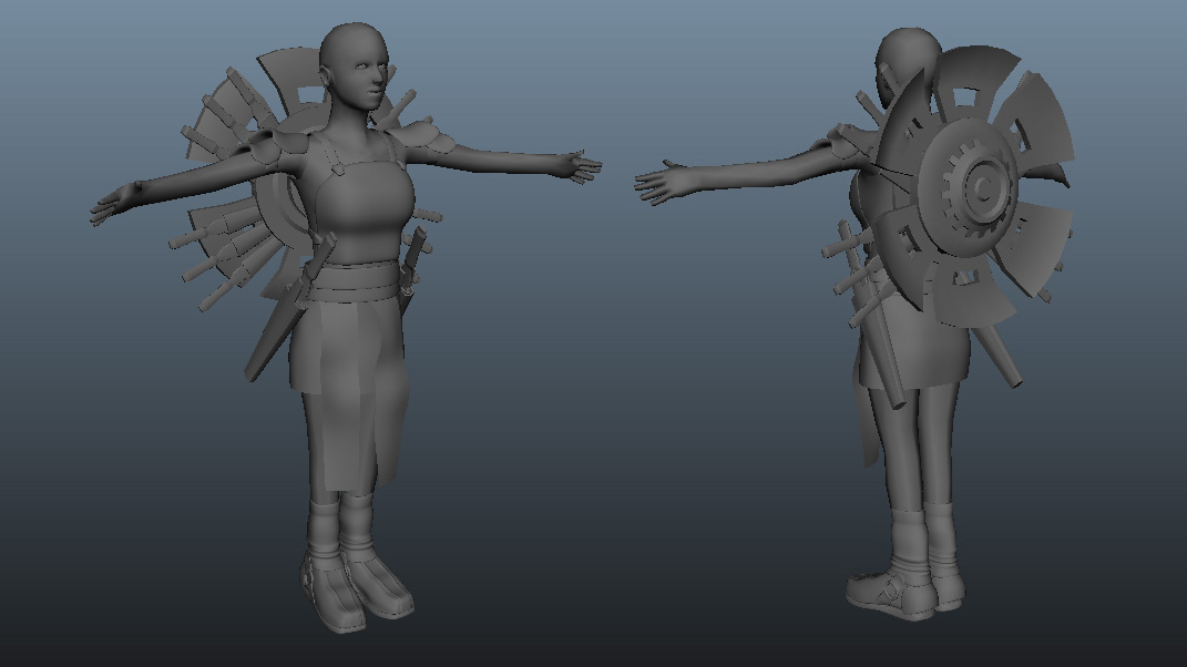 Project Fusion Modelling Wip01 Zoie And Aurora