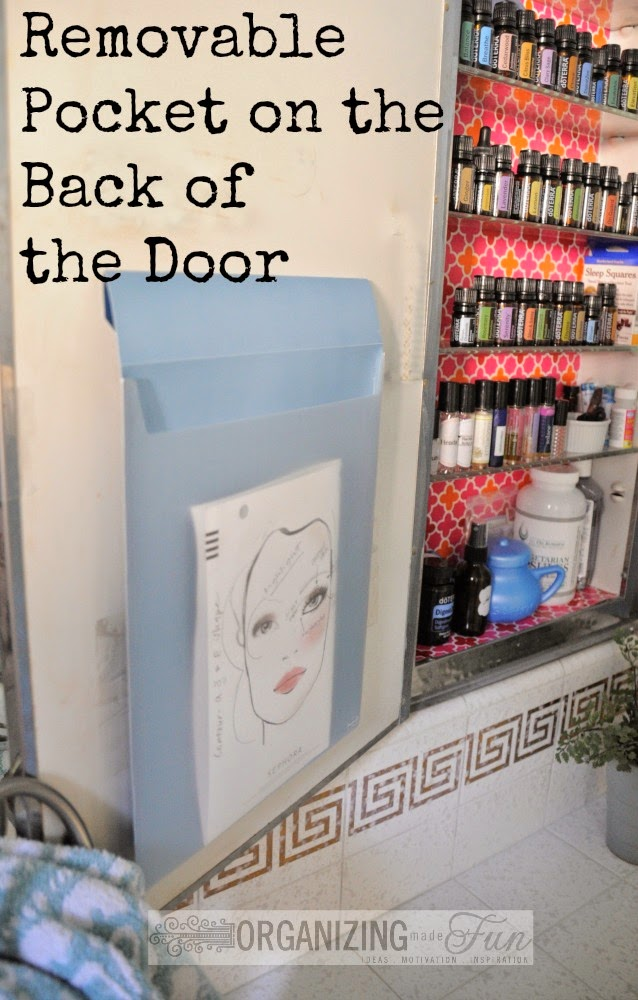 Removable Pocket on the Back of the Door :: OrganizingMadeFun.com