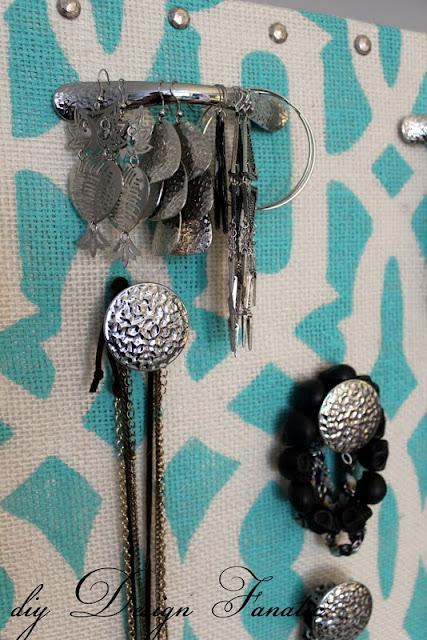 jewelry organizer, diy jewelry organizer, diy design fanatic, diy, stencil