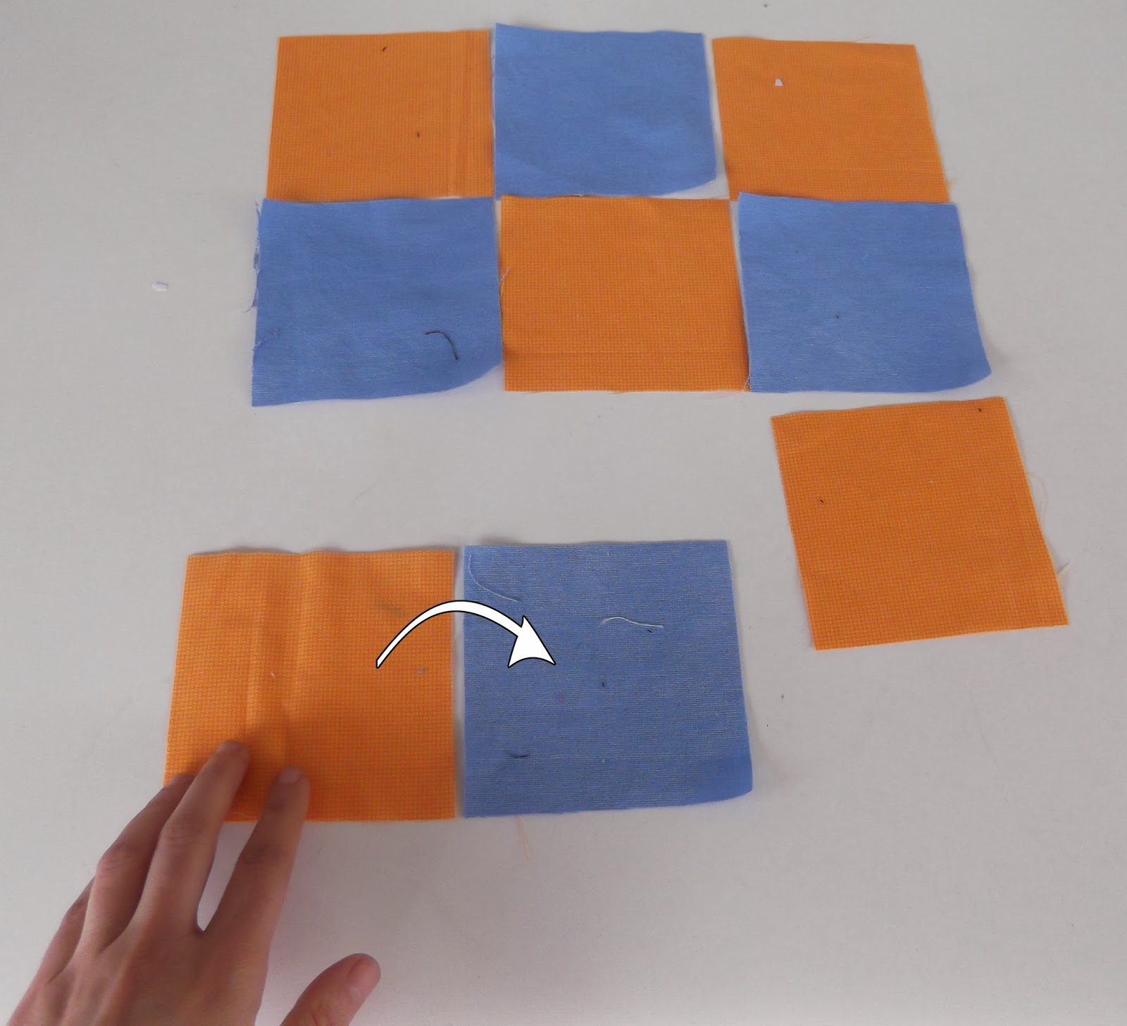 patchwork tutorials, patchwork checkerboard, patchwork how to,
