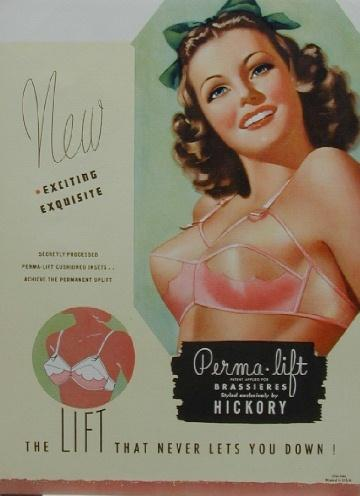 1950s pink permalift bra advertisment