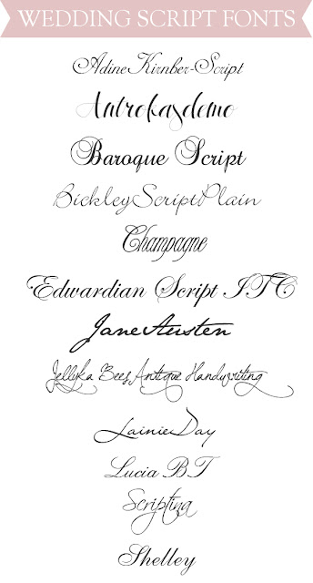 Ally and callie the other hours top wedding script fonts