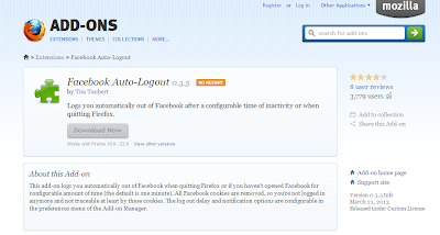 HOW TO AUTO LOGOUT FROM FACEBOOK AFTER A CERTAIN TIME ???